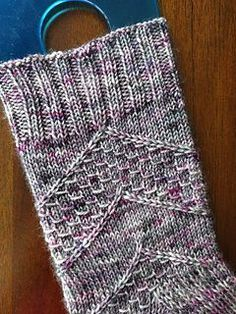 Speckled Space Socks by Amanda Stephens - free