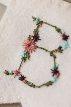 Hand Embroidered Bunting – Make Eat Sleep Repeat Embroidery Alphabet, Hand Embroidery Art, Hand Embroidery Tutorial, Embroidery Flowers Pattern, Embroidery Stitches, Embroidery Suits, Simple Embroidery Designs, Diy Embroidery Shirt, Hand Embroidery Patterns Free