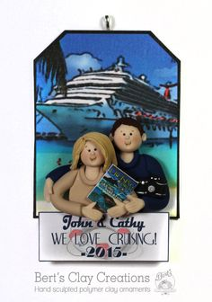 LOVE TO CRUISE  Christmas Ornament by BertsClayCreations on Etsy