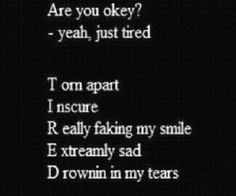 Find images and videos about sad, tired and i miss you on We Heart It - the app to get lost in what you love. Teen Depression, Depression Quotes, Depression Help, Sad Quotes, Best Quotes, Life Quotes, Qoutes, Amazing Quotes, Relationship Quotes