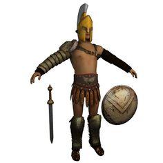 Roman Gladiator Armor   3D Model - 3D Model