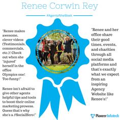 Corwin-Rey Insurance Agency is our #AgentoftheWeek!   #SocialHeroes, don't you agree Renee is an inspiration for all Farmers Insurance agents? — celebrating this special day.
