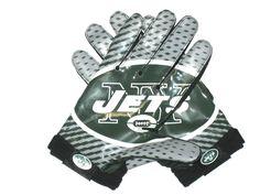 Garrett McIntyre Game Worn & Signed New York Jets Team Authentic Series Nike Gloves