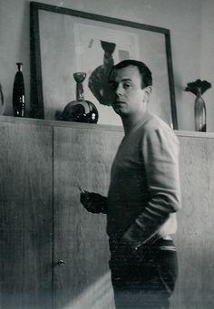 "Lubomir Blecha, author with his glass artifacts from series ""Africanicae & Negroicae"", 1962 First Contact, Glass Art, Bohemian, Author, Artist, Inspiration, Biblical Inspiration, Jar Art, Artists"