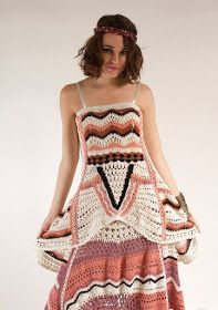 The Ethnic Bohemian Hand Crocheted Maxi Skirt by Nalini Shop is Hippie-Chic