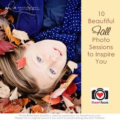 Love these 10+ gorgeous fall photo sessions to inspire your creativity! #photography @iHeartFaces