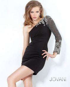 #Jovani style 2132 #JovaniFashions #LittleBlackDress #LBD #Lace #beaded #embellished #dress