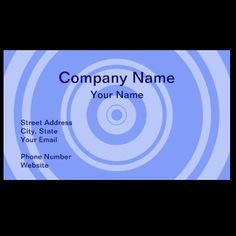 Professional blue circle business cards