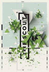 poster—dimensional grid