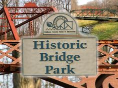 Battle Creek, Michigan. A park full of old bridges from around Michigan.