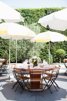 Wooden outdoor party table decor: http://www.stylemepretty.com/living/2016/09/06/learn-how-to-throw-the-ultimate-gorgeous-kids-party/ Photography: Ala Cortez - http://www.loveala.net/