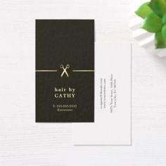 Elegant Minimal Scissors Line Hair Stylist Business Card - stylist business cards cyo personalize businesscard diy