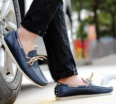 US $36 New Luxury Leather Boat Shoes Mens Top Sider Driving Shoes Luxury Brand British Style Handmade Fashion Flats Gorgeous