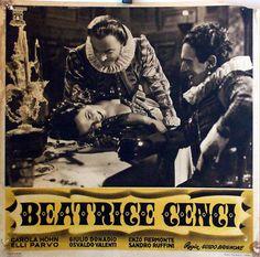 """BEATRICE CENCI"" MOVIE POSTER - ""BEATRICE CENCI"" MOVIE POSTER"