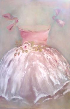 TRINI loves this pink ballet dress painting. her profound deafness did not prevent her from falling in love with the ballet. Dress Painting, Ballerina Painting, Ballerina Pink, Fru Fru, Everything Pink, Pretty Pastel, My Favorite Color, Rose Quartz, Pink Blue
