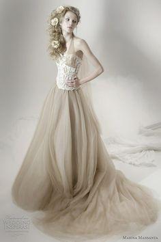 helloweddingdiary:  Marina Mansanta bridal collection