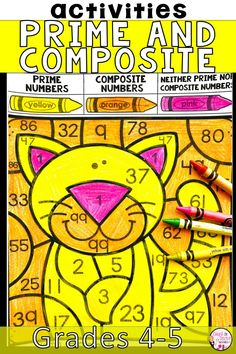Are you looking for a fun and engaging way to practice prime and composite numbers? These Prime and Composite Number Activities are perfect review for your 4th Grade Math or 5th Grade Math students. Division Activities, Multiplication Activities, Number Activities, Book Activities, Math Lesson Plans, Math Lessons, Elementary Math, Upper Elementary, Prime And Composite Numbers