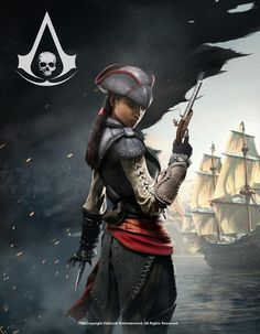 View an image titled 'Aveline Promo Art' in our Assassin's Creed IV: Black Flag art gallery featuring official character designs, concept art, and promo pictures. The Assassin, Female Assassin, Black Characters, Video Game Characters, Female Characters, Fantasy Characters, Cosplay Characters, Assassin's Creed Black, Assassins Creed Black Flag