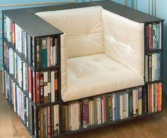 Not only do you get more space for your books, you also have a built in table for your coffee while you read!