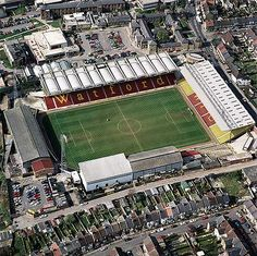 An poster sized print, approx (other products available) - VICARAGE ROAD, Watford. Aerial view of the home of Saracens RFC and Watford FC. Photographed in Aerofilms Collection (see Links). - Image supplied by Historic England - Poster printed in Australia Soccer Stadium, Football Stadiums, Premier League, Watford Fc, England, Aerial View, Great Britain, Photo Mugs, Around The Worlds