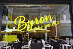 Byron Signage designed by Charlie Smith Design.
