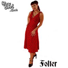 Folter Red and Black Polka Dot Dress- I love this dress so much I also have it in teal!