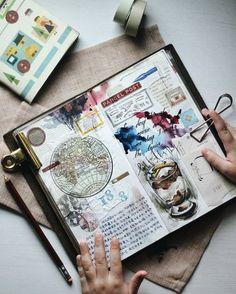 ideas travel journal planner life for 2019 Art Journal Pages, Sketch Journal, Bullet Journal Inspiration, Journal Notebook, Art Journals, Journal Ideas, Travel Journals, Notebook Ideas, Junk Journal