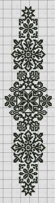 kogin sashi free pattern http: Cross Stitch Borders, Cross Stitch Designs, Cross Stitching, Cross Stitch Embroidery, Embroidery Patterns, Cross Stitch Patterns, Filet Crochet, Blackwork, Bordado Tipo Chicken Scratch