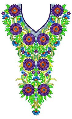 The Ember Dress Embroidery Design | Neck | Yoke | Gala
