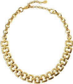Jose & Maria Barrera Crystal Ribbon Collar Necklace uIKKBg71sP