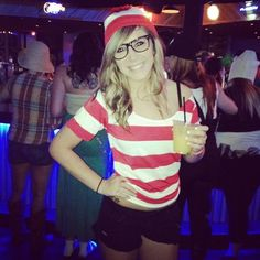 Pin for Later: 24 Costume Ideas For Girls With Glasses Where's Waldo