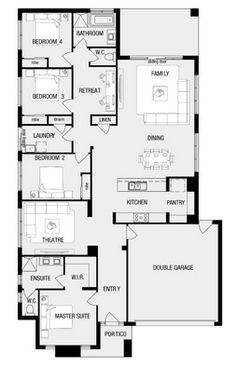 Full House, Dream Houses, Future House, Craftsman, Pantry, House Plans, House Ideas, New Homes, Floor Plans