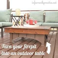 Turn your fire pit i