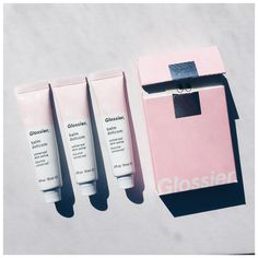 """""""So happy to finally have my hands on some @glossier goodness from @netaporter"""""""