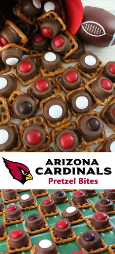 Our easy to make Arizona Cardinals Pretzel Bites are yummy bites of sweet and salty Football Game Day goodness. They are perfect as a little extra treat at a NFL playoff party, a Super Bowl party or as a special dessert for the Arizona Cardinals fan in your life. Follow us for more fun Super Bowl Food Ideas.
