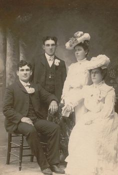 Wedding photo, 1904