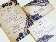 Printable Lace Elegant WEDDING INVITATIONS