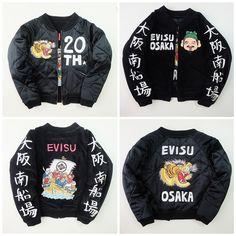 Vintage Japanese EVISU Yamane Osaka Momotaro Kintaro Roaring Tiger Sukajan Skajan Souvenir Jacket - Japan Lover Me Store