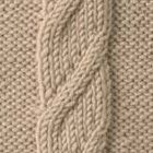 samples of various different cable knit options and how to do the stitch