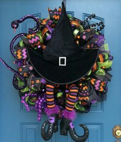 Hey, I found this really awesome Etsy listing at https://www.etsy.com/listing/202549042/halloween-deco-mesh-wreath-halloween