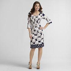 -Women's Party Dress - Polka Dot