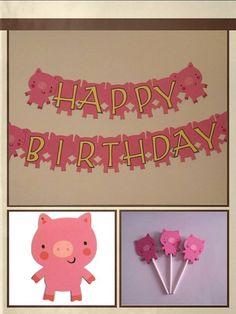 Pig Birthday Party Package Invitations por PartyConfettiDecor, $39.00