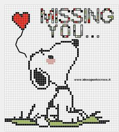 Placing in CrazyLittleThingscalledLove even tho i have a Snoopy board as it fits… Cross Stitch Cards, Cross Stitch Baby, Cross Stitch Animals, Counted Cross Stitch Patterns, Cross Stitch Designs, Cross Stitching, Cross Stitch Embroidery, Stitch Character, Stitch Cartoon