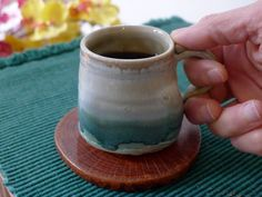 Espresso coffee cup, hand made pottery.