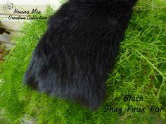 SALE  12  Dollars  Reg 16Plush Shag Faux Fur   Black by NonnaMiaCC, $16.00