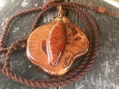 Oak pendant/ pinecone pendant/ wooden pendant/ by OKAVARKpendants
