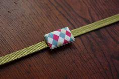 Yuianくるみ帯留め - 長方形・モダン菱つなぎ-01