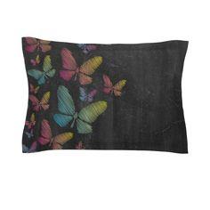 Butterflies by Snap Studio Pastel Chalk Cotton Pillow Sham