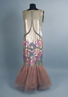 Deco Sequined Evening Dress, 1920s
