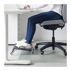 IKEA - DAGOTTO, Footrest, , This foot rest helps you sit in a good working position at your desk and reduces strain on your legs, back and neck.It's easy to tilt and adjust the platform to a comfortable angle just by applying pressure with your foot.Your feet stay in place when the platform is tilted because it has a non-slip textured surface.Rubber feet underneath keep the foot rest firmly in place on the floor and protects sensitive surfaces.